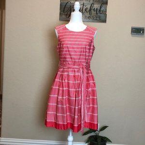 dressbarn Pink & White Print Dress